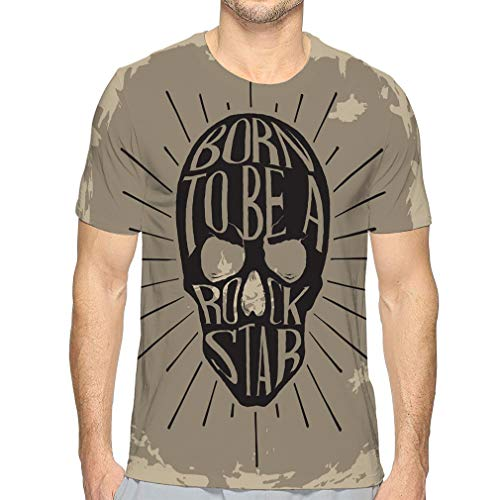 Men's Logo Crew Neck T-Shirt Rock Star Graphic Design typographics Other uses