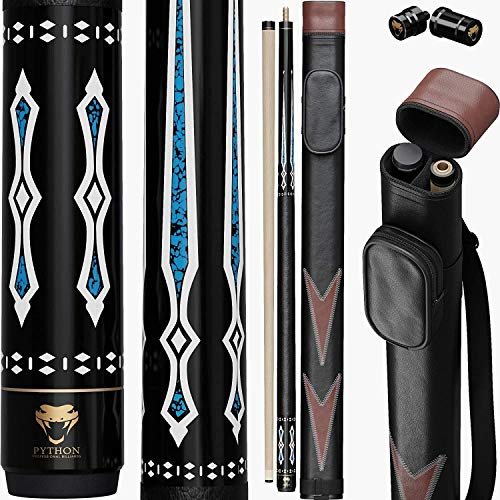 PYTHON - 2- Pieces Pool Cue stick 100% Canadian Maple Wood. Professional...