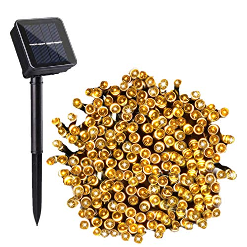 Chipark Solar String Lights Outdoor, Led Solar Fairy Garden String Lights 100 LEDs Waterproof 8 Modes Decorative Fairy Lights for Tree, Patio, Garden, Yard, Home, Wedding,Warm White[Energy Class A+++]
