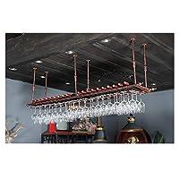 カップホルダー、ワイングラスホルダー、ビーカーホルダー、ぶら下げワイングラスホルダー、バーカウンターバー(ブラックブロンズ) (Color : Bronze, Size : 100*30cm)