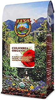 Java Planet - Organic Coffee Beans - Colombian Single Origin - a Gourmet Medium Dark Roast of Arabica Whole Bean Coffee USDA Certified Organic, Rainforest Alliance Certified - 1LB Bag
