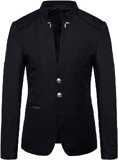 Mandarin Collar Blazer Jacket Slim Fit Sports Coat Jackets