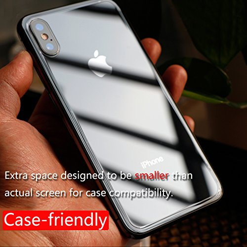 JingooBon Back Screen Protector Compatible with iPhone Xs/iPhone X [2-Pack], Rear Tempered Glass [3D Touch] Temper Glass Film Anti-Fingerprint/Scratch Compatible with iPhoneXs/iPhoneX (5.8 inch)