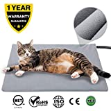 Pet Heating Pad for Cats Dogs,17.7''x15.7'' Soft Electric Blanket Auto Temperature Control Waterproof Indoor,Animal Bed Warmer House Heater Heated Floor Mat,Whelping Supply for Pregnant New Born Pet