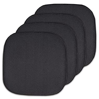 Sweet Home Collection 4 Pack Memory Foam Honeycomb Nonslip Back 16  x16  Chair/Seat Cushion Pad