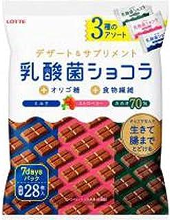 ロッテ 乳酸菌ショコラ 3種アソートパック 112g×18入