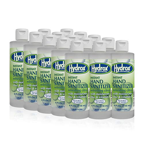 Hydrox Instant Hand Sanitizer 70% Ethyl Alcohol Gel 4oz...