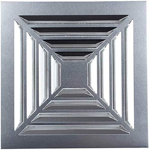 Uitlaat fan Ventilatie Extractor Badkamer Toilet Aluminium Buckle Ceiling Pipe Ventilator Uitlaat grootte van de opening: 300 * 300mm Rustige afvoerventilator
