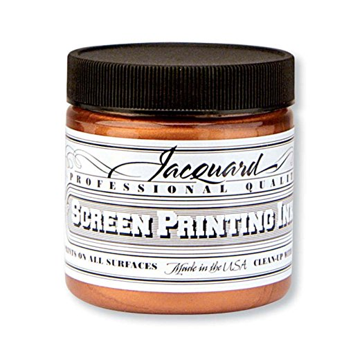 Jacquard JAC-JSI1123 Screen Printing Ink, 4 oz, Copper