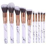 Dekaim 2 Tipos Nueva Base para Cejas, Sombra de Ojos, Colorete, Corrector, Mezcla de Polvo, Juego de brochas de Maquillaje(10pcs)