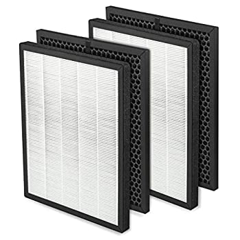 DerBlue 2 Sets True HEPA Filter Replacement Compatible with LV-PUR131 Activated Carbon Filters Set Part # LV-PUR131-RF