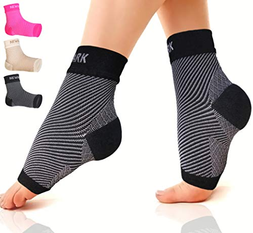 NEWMARK Plantar Fasciitis Socks with Arch Support for Men & Women - Best Ankle Compression Socks Foot Sleeve for Aching Feet & Heel Pain Relief - Better Than Night Splint Brace, Orthotics