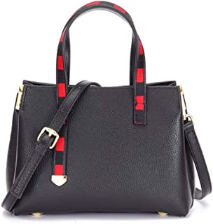 Runhuayou New Trend Effortless Fashion Bills Shoulder Slung Low Leather Handbag Great for Casual or Many Other Occasions Such (Color : Black)