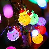 LED Pupazzo di Neve Luce Stellata, PTN LED Snowman String Starry Light, 3 Metri 20 Luci LED con Batteria Impermeabile, Luci di Natale All aperto per Giardini, Casa, Festa di Natale