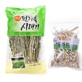 Korean Homegrown Dried Radish Leaves Siraegi 300 + Bellflower Root 100g 시래기 건도라지