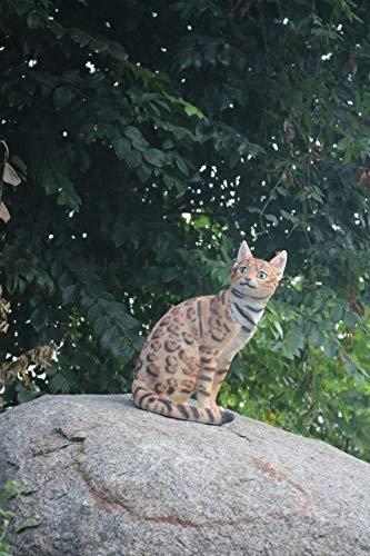 """16"""" Bengal Cat Statue Figurine"""