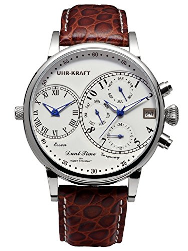 Uhr-Kraft Dualtimer 45 Classic Herren-Armbanduhr 27104/1