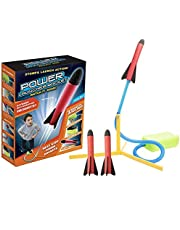 SooFam Toy Rocket Launcher, 3 Rockets - Outdoor Rocket Toy Gift for Boys and Girls - Comes with Toy Rocket Launcher - Ages 3 Years and Up