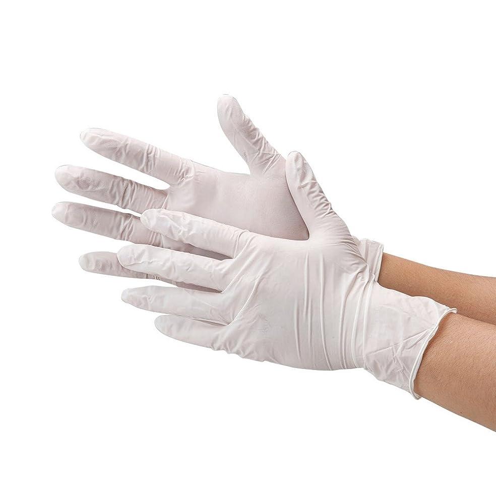 全能不運肉屋使い捨て手袋 まるで素手の様な感覚で作業ができる 極薄 ゴム手袋 白 ホワイト 10枚入り 粉あり (サイズ:M) 左右兼用 食品衛生法適合品