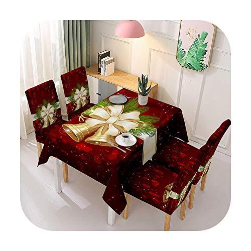 Fun-boutique Tischdecke, rechteckig, Weihnachten, Stuhlhusse, Polyester, für Weihnachten, Neujahr, Geschenk, Tischhusse, 1 – 140 x 140 cm