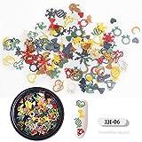Uñas Postizas Puntas De Uñas Nail Art Snowflake Flower Slice Lentejuelas Accesorios De Decoración Diy Gel Uv Polish 3D Christmas Manicure Tools-T009-026F