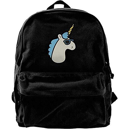 Yuanmeiju Computerrucksäcke, klassischer Canvas-Tagesrucksack, Reiserucksack, College-Schultaschen, Einhörner sind lässige Schulterrucksäcke, Notebook-Laptoptasche