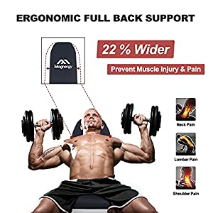 Magnergy Adjustable Weight Bench, Foldable Workout Bench With Safer Stable Structure & Full Backrest For Home Gym Exercise - 700LBS Capacity
