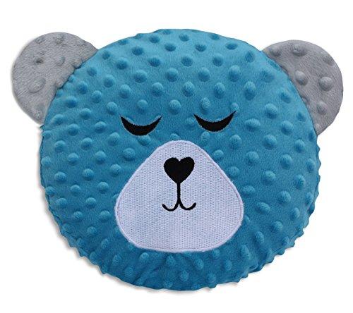 Velinda Kuschelfigur + Spieluhr Einschlafhilfe mit Mutterleibs-Geräuschen Schlummerbär (Farbe: Blau)