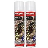 WESPEN-EX Power Spray 2x 400 ml -- Wespenspray Pyrethrum Insektizid Wespenschaum Wespenabwehr Wespenbekämpfungsmittel Wespenmittel Ungezieferspray Wespenschutz Wespengift Wespenfalle Wespenbekämpfung