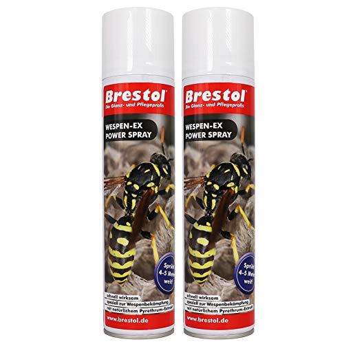 WESPEN-EX Power Spray 2x 400 ml -- Wespenspray Pyrethrum Insektizid Wespenabwehr Wespenbekämpfungsmittel Wespenmittel Ungezieferspray Wespenschutz Wespengift Wespenfalle Wespenbekämpfung