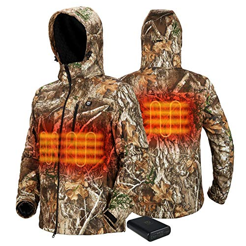 TIDEWE Heated Jacket for Men with Battery Pack, Heated Coat (Camo, Size L)