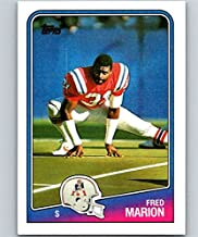 1988 Topps Football #188 Fred Marion New England Patriots Official NFL Trading Card