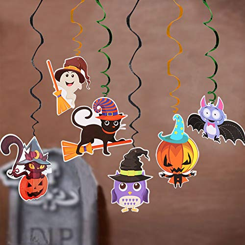 Decorazioni per feste di Halloween Turbinii sospesi per casa stregata, Forniture per feste tridimensionali di Halloween Spooky Little Pumpkin Decor