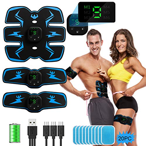 Review Of ABS Stimulator Abdominal Muscle Toner, EMS Abdomen Muscle Trainer Toning Workout Rechargea...