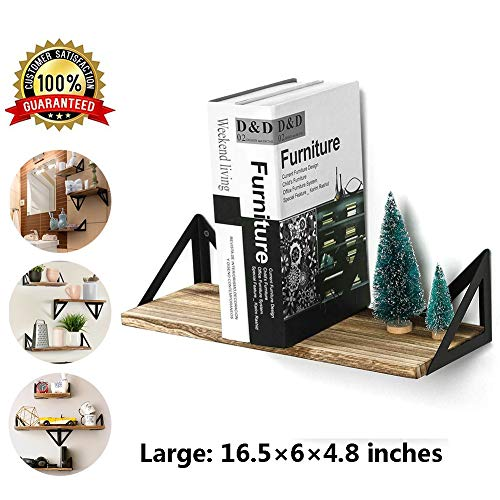 M-TOP Zuigende Wandplanken, Zwevende planken Wandgemonteerde Set van 3, Rustieke houten opbergplanken, Lange Drijvende planken voor Badkamer, Slaapkamer, Keuken, Woonkamer