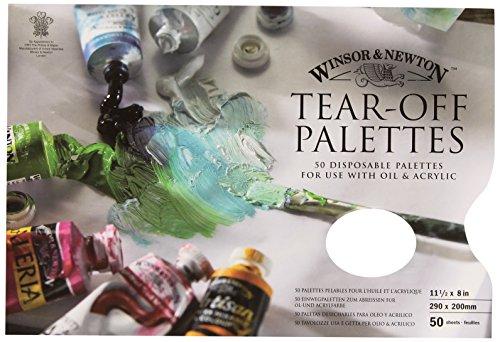 Winsor & Newton 7002018 Abreisspalette Mischpalette, Abreißpalette für Ölfarben und Acrylfarben, 29 x 21 cm