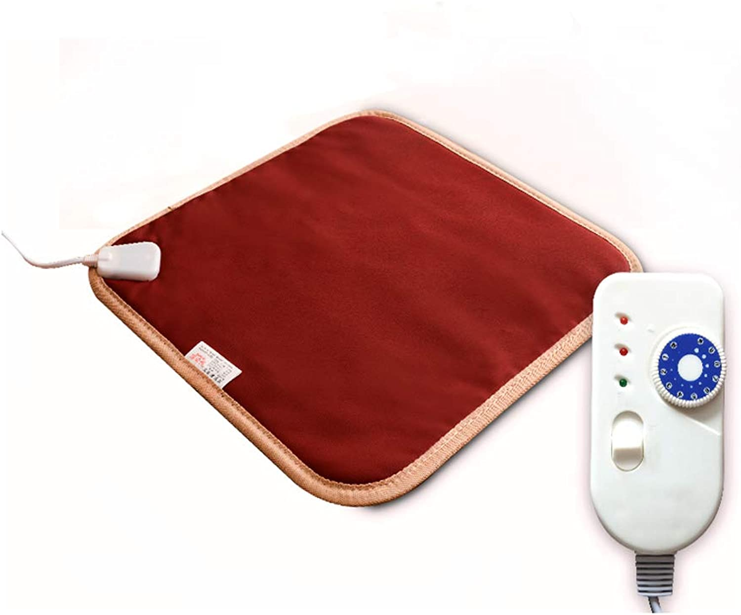 Pet Heat Pad Dog Cat Electric Heating Pad Waterproof 10 Levels of Temperature Adjustable with Chew Resistant Steel Cord 15.7 x23.6 ,Red,M
