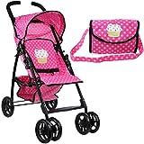 Mommy & Me Doll Stroller Foldable Umbrella Doll...