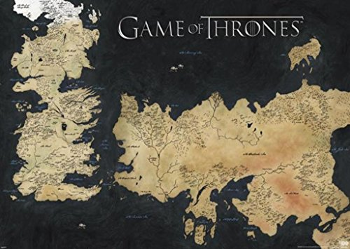 Pyramid America Game of Thrones Map of Westeros and Essos TV Cool Huge Large Giant Poster Art 55x39