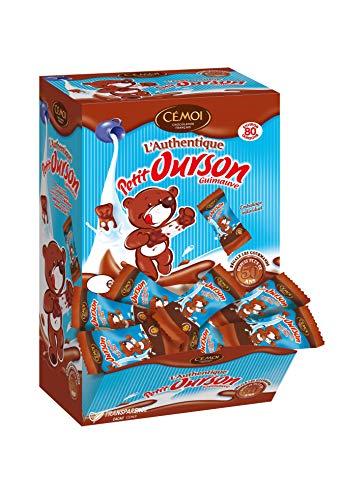 Cémoi Boite Distributeur l'Authentique Petit Ourson Guimauve Chocolat au Lait 80 Pièces...
