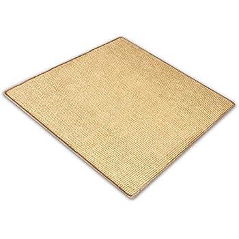 casa pura Tapis pour Chat - Tapis griffoir en sisal résistant | Fibre 100% Naturelle Anti-Allergique | Jaune Clair - 50x50cm