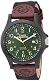 Timex Men's TWF3C8430 Expedition Acadia Black/Brown/Dark Green Leather/Nylon Strap Watch