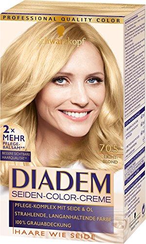 Schwarzkopf Diadem Seiden-Color-Creme, 705 Lichtblond Stufe 3, 3er Pack (3 x 180 ml)