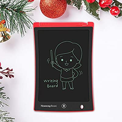 Howeasy Board Writing Tablet, 8.5 Inch Electronic Handwriting Paper Drawing Doodle Board Gift for Kids & Adults at Home, School & Office - (Red)