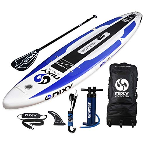 "NIXY Manhattan Paddle Board Touring & Trekking Inflatable SUP 12'6' x 30"" x 6"" Ultra-Light Stand Up Paddleboard built with Dual Layer Dropstitch Includes Paddle, Leash, Pump, Shoulder Strap, Carry Bag"