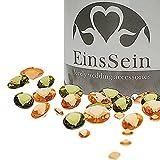 EinsSein 600x Diamantkristalle 12-10- 5mm Mix apricot-olivgrün Dekoration Streudeko Konfetti...