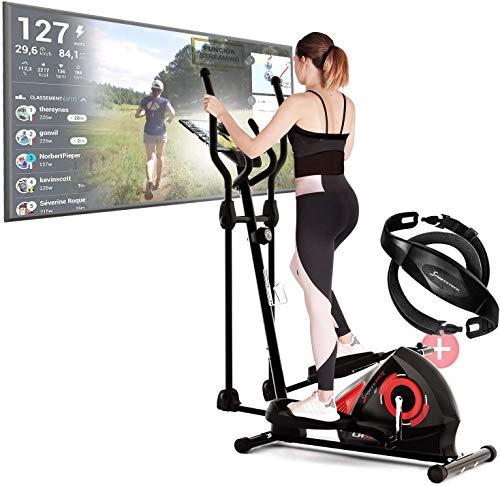 Bicicleta elíptica para tu hogar con pantalla multifunción