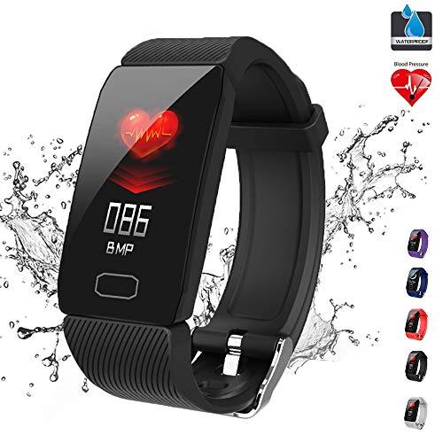 GWSPORT Smart Armband Aktivität Fitness Tracker, Pulsuhren Blutdruck Pulsoximeter Schlaf Monitor, Anruferinnerung IP67 Smart Armbanduhr Für Frauen Und Männer,Schwarz