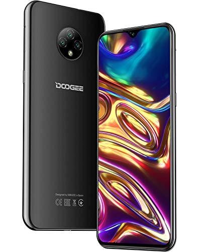 DOOGEE X95 Smartphone Libre 2020, 6.52 Pulgadas 19.5:9 HD+ Pantalla 4G Telefonos, 4350mAh, 13MP+2MP+2MP+5MP, Android 10.0 Smartphone, 16GB ROM,128GB SD, Dual SIM Face ID, Negro
