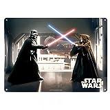 Star Wars - Cartel de chapa A3, diseño de Obi Wan Vs. Darth Vader Episodio 4 - Juego de cartas